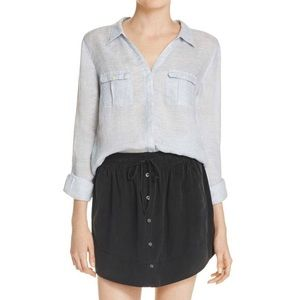 NWT Joie 100% Silk Black Drawstring Waist Skirt